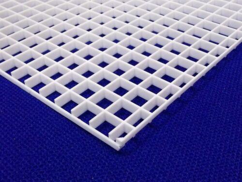 "1/2""(12mm) White Grid Divider Egg Crate Louvre 12"" x 12"" For Aquarium&Lighting"