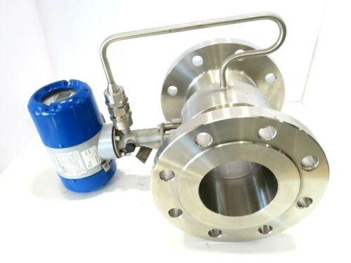 """4"""" Krohne OPTISWIRL 4070/C CL150 Vortex Flowmeter K Factor 1226.9 MFD 2012 NEW"""