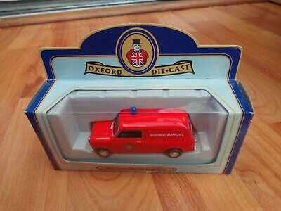 OXFORD DIECAST 1/43 INCIDENT SUPPORT LONDON FIRE MINI VAN MODEL BOXED LT EDITION