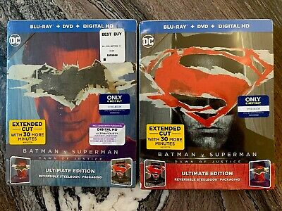 BATMAN V SUPERMAN: DAWN OF JUSTICE (Ultimate Cut)  Best Buy Excl. SteelBook (Ben Affleck Best Batman)