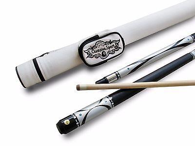 Champion Silver Pool Cue Stick  White Case  Champion Or Cuetec Billiards Glove