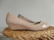 Brand New Beige/Nude Patent Ballet Flat Shoes Slight Wedge Size 9 Kelvin Grove Brisbane North West Preview