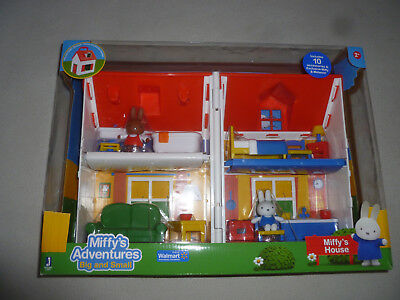 NEW IN BOX MIFFYS ADVENTURES BIG AND SMALL HOUSE NIB FOLDING PLAYSET FIGURES TOY