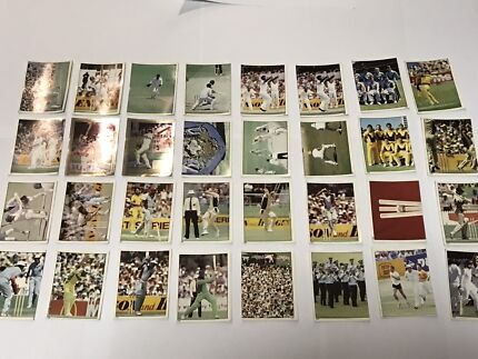 1983 Cricket trading card stickers x 33.