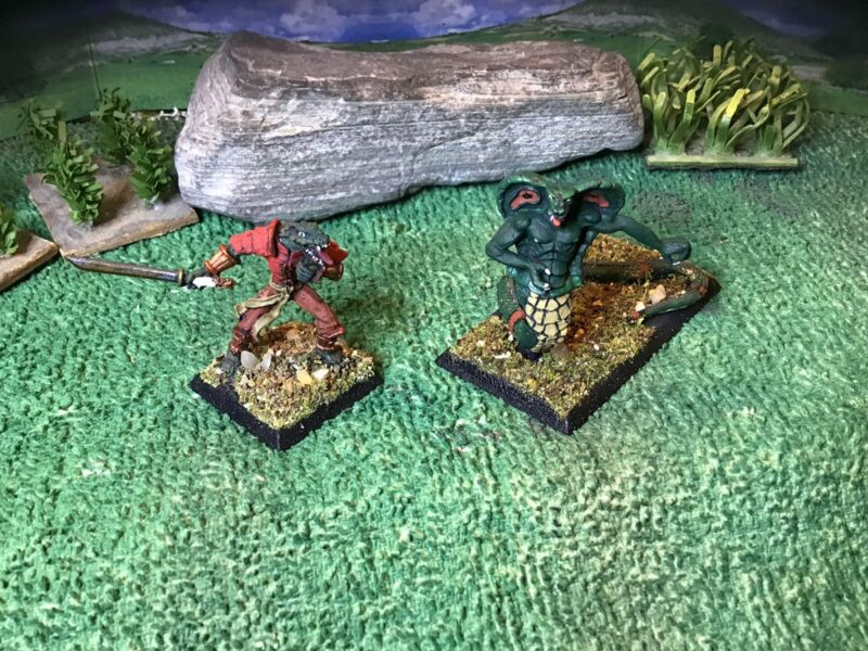 Clan War Naga Viper & Abomination (2) 25mm
