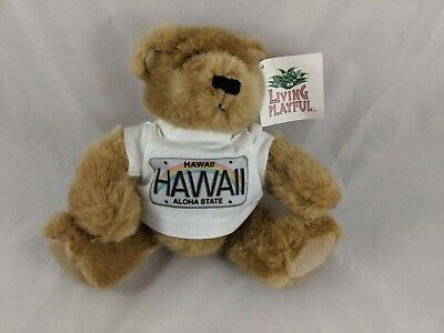 Living Playful Hawaii Aloha State Teddy Bear Plush 8