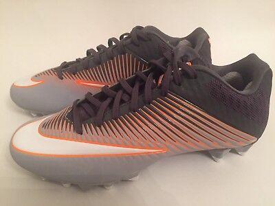 the latest 923f9 ddea2 Nike Vapor Speed 2 Low Lacrosse Cleats Shoes Grey Orange White Size 9.5 NEW!