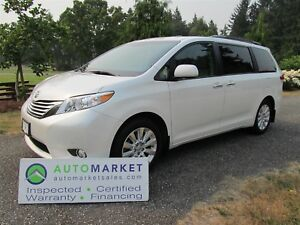 2012 Toyota Sienna Limited, AWD, Nav, DVD, Inspected, Warranty,