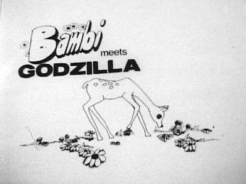 16mm Bambi Meets Godzilla classic 1969 cartoon animation film cult rare vintage
