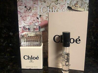 CHLOE  EDP Eau de Perfume MINI MINIATURE 5 mL NEW IN BOX & ONE CHLOE SAMPLE!