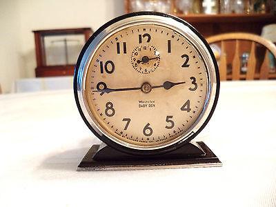 Antique Westclox Baby Ben Alarm Clock Working! Circa 1930!