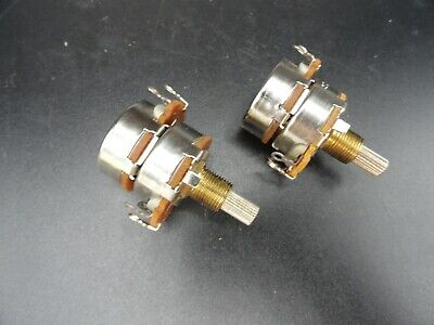 Linear Taper 50 Ohm Dual-gang Potentiometer 34 Shaft Lot Of 2