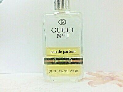 Gucci No. 1 Eau de Parfum 1974 Vintage Original 60ML 2 OZ Splash Women 50% FULL