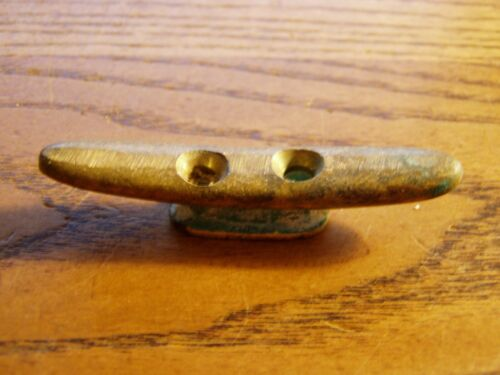 "Antique Nautical Bronze/brass Small  3 1/4""  rope cleat"