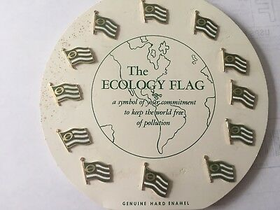 70s Dress Up (Lot of 12 Vintage Ecology Flag Pins from the 70's, The Original Earth Day)