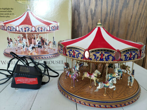 Mr. Christmas Gold Label World's Fair Carousel 30 Songs Musical Animated Lights