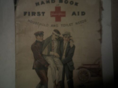 Antique 1903 First Aid  Advertising Johnson/Johnson Medicine 10 Cents w/Photos
