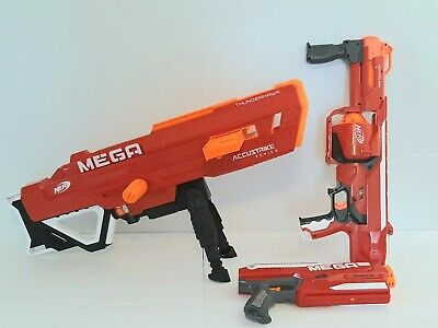Nerf MEGA Gun Blaster Lot Of 3 Thunderhawk Rotofury Magnus Tested Working