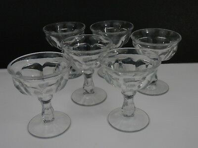 Vintage Imperial Glass Old Williamsburg Clear Champagne/Tall Sherbet Set of 6