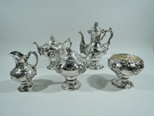Tiffany Coffee Tea Set - 299 - Antique Early - American Sterling Silver - 1850s