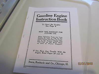 Sparta Economy sears 1hp to 10hp  Gas Engine  Instruction/Parts Catalog Manual