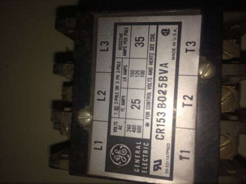GE General Electric Contactor CR153BO25BVA coil