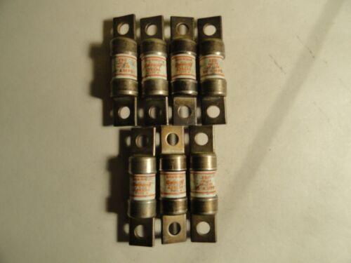7-PCS LOT SHAWMUT AMP-TRAP # A 25 X 60 TYPE-4 NOS SURPLUS 250VOLT