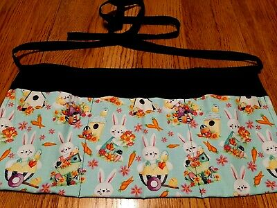 Waitress Apron 3 Pockets Easter Bunnies