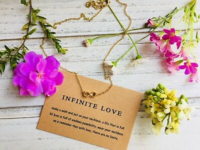INFINITE Necklace -18K Gold/Silver Plated - FREE SHIPPING
