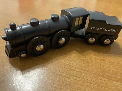 BRIO Polar Express Wooden Train Set Coal Tender Car 2pc Lot RARE Christmas 32501