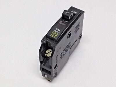 1pc Square D Qob120 Circuit Breaker 20a 1p 120240vac 10ka Qob 20 Amp Used