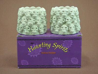HAUNTING SPIRITS VOTIVE CANDLE HOLDER SKULLS HALLOWEEN RUSS BERRIE & CO](Spirit Halloween Co)