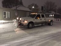 Plow truck for hire