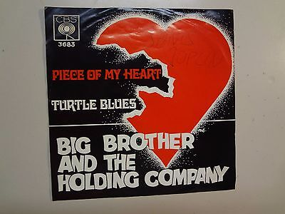 Big Brother   The Holding Company  Piece Of My Heart Norway 7  1968 Cbs 3683 Asl