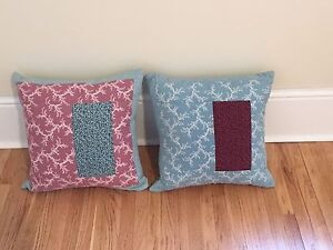 Quilted pillows. Set of 5