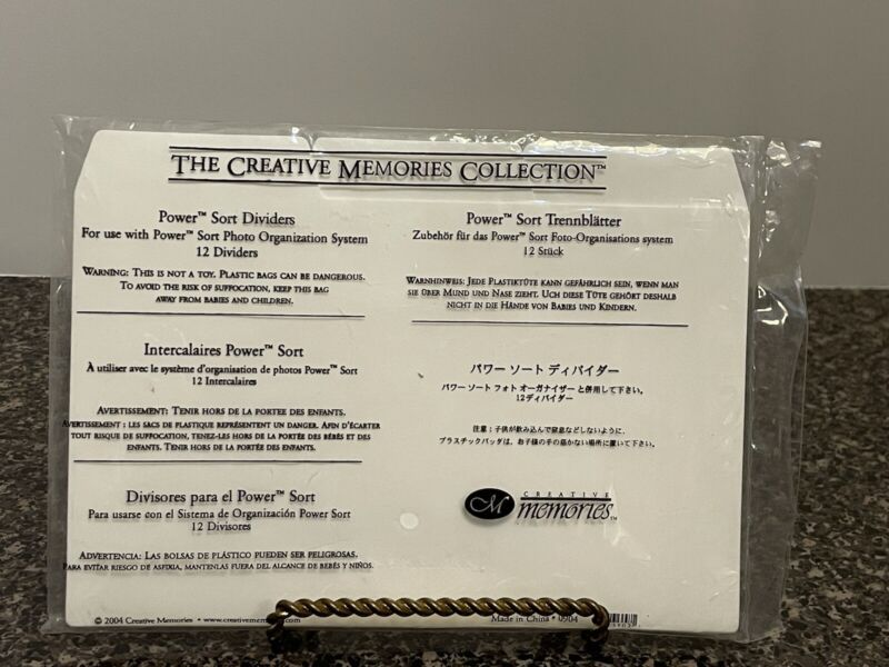 Creative Memories Power Sort Dividers - Set of 12 (New)