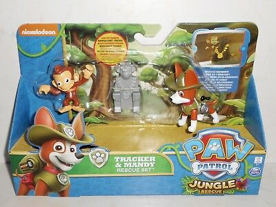 Brand New 2016 Nickelodeon/Spin Master PAW PATROL: TRACKER & MANDY Rescue Set 3+
