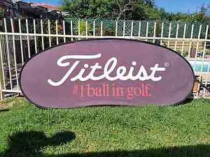 Titleist golf banner sign Modbury Heights Tea Tree Gully Area Preview