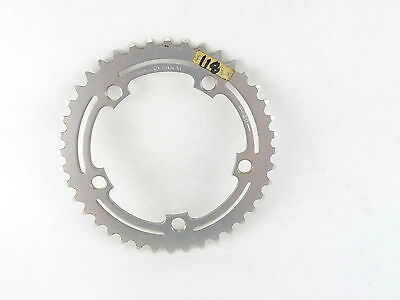 "NOS ALUMINUM DRILLED ROAD Chainring 3//32/"" 50t 110 BCD Vintage"