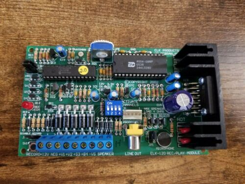 Used ELK-120 Recordable Voice Module and Siren