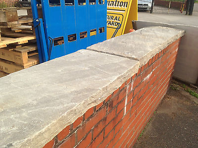 18 Inch Wide Tumbled Sandstone Coping Stone  |  Warwick Reclamation