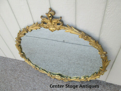 59011 Antique Wood and Gesso Decorator Mirror