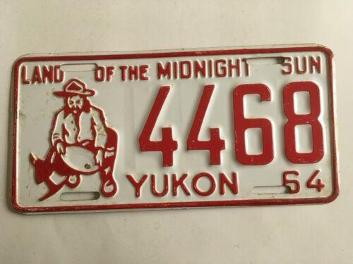 1964 Yukon Territory Canada License Plate Miner Graphic All Original