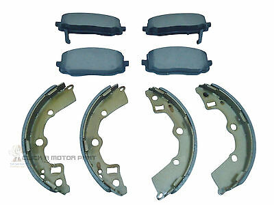 KIA PICANTO 2003 2010 ALL MODELS FRONT BRAKE DISC PADS  REAR BRAKE SHOES SET