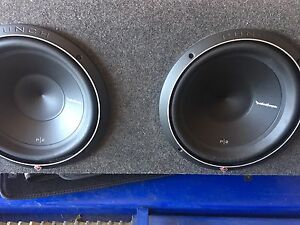 "Rockford Fosgate twin 12""  subwoofer alpine, kicker, pioneer Sony Narre Warren South Casey Area Preview"