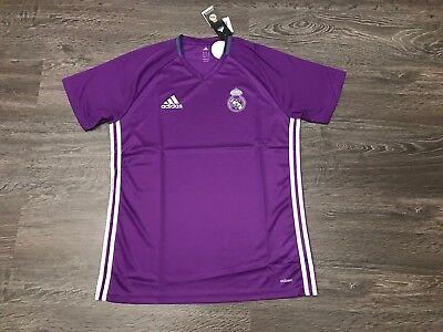 Adidas Mens Real Madrid 2016/17 Training Jersey Soccer Football Shirt L AO3117
