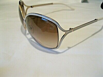 TOM FORD'AUTHENTIC' TF 179 28G RICKIE WHITE GRADIENT FRAMES SUNGLASSES (Tom Ford Sunglasses White Frame)
