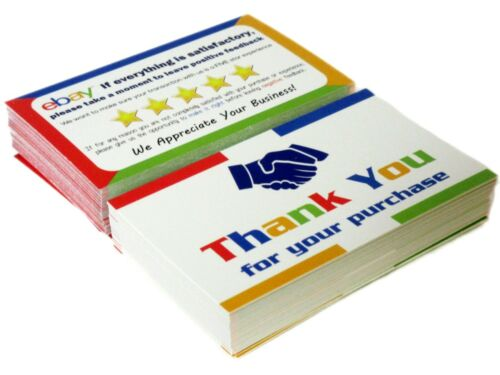 50 Ebay Thank You Cards Business Printed Both Sides