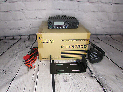 New Icom F-5220d Idas Nxdn Vhf 128ch Analog And Digital Mobile Radio Complete