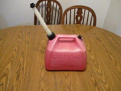Vintage Plastic Vented Gas Can Gott Rubermaid 2 12 Gallon Gal. Fuel Jug